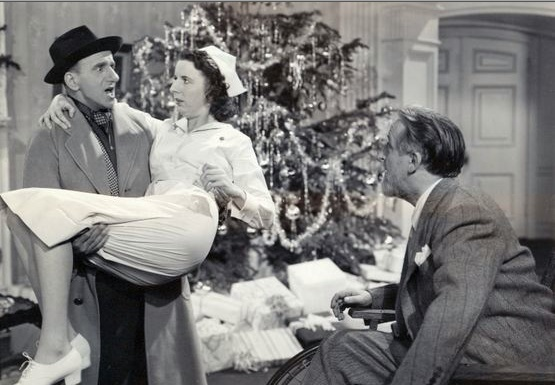 Jimmy Durante, Mary Wickes and Monty Woolley in - The Man Who Came To Dinner - 1942.