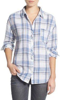 BP. Plaid Cotton Shirt - Shop for women's Shirt - Blue Colony Ashley Plaid Shirt
