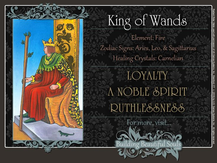 THE King of Wands TAROT CARD MEANINGS - UPRIGHT& REVERSED! The King of Wands Tarot includes LOVE, NUMEROLOGY, & SYMBOLS for more accurate TAROT READING.  #minorarcana #suitofwands #kingofwands #tarot #tarotreading #learntarot #tarotcards #tarotcardreading #tarotcardmeanings #psychic #psychicreadings #divination #oraclecards #riderwaitetarot #numerology #astrology #magic #magick