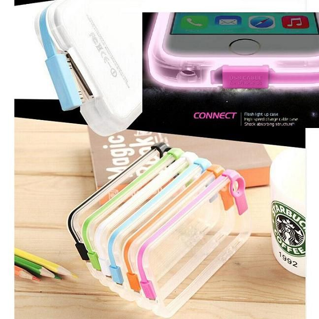 Flash Light up Case with High Speed Cable for iPhone6/6plus/5C/5S