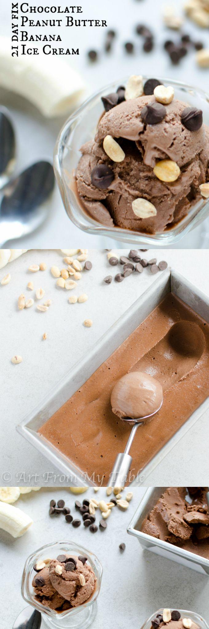 21 Day Fix Chocolate Peanut Butter Banana Ice Cream