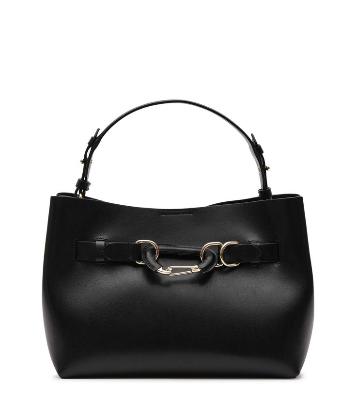 REISS BLEECKER MINI LEATHER MINI BAG BLACK. #reiss #bags #leather #lining #travel bags #weekend #polyester #
