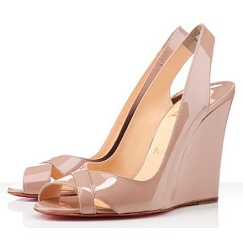Popular Discount Christian Louboutin Marplesoft Patent Leather Slingbacks  Nude Outlet Online For Sale At Our Website