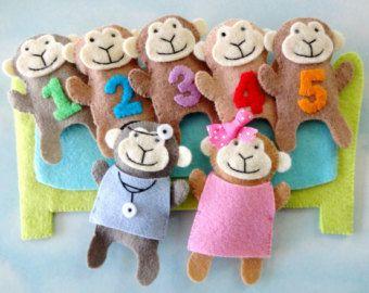 5 Little Monkeys quiet book page