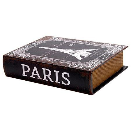 Storage Book Box MDF Paris Medium 18cm x 25cm x5.5cm
