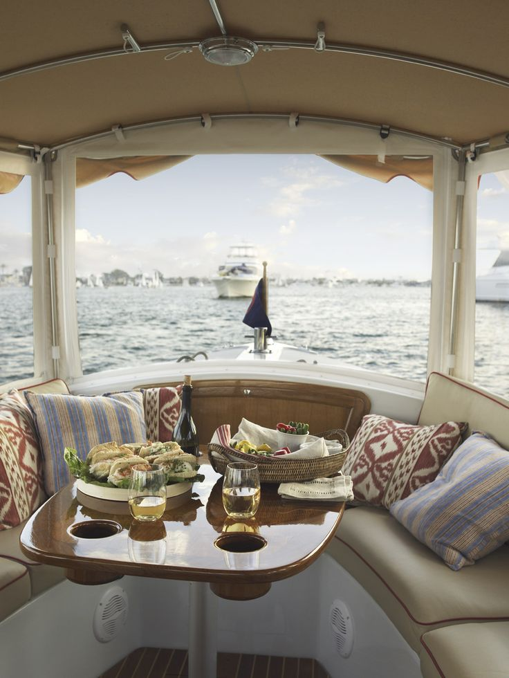 Lunch on the boat , share it with someone special and let her know Love is smiling on the inside and out !