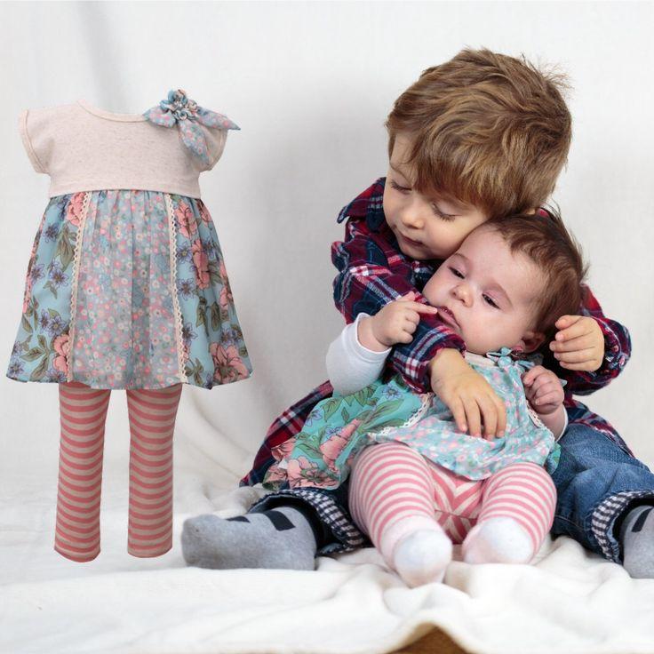 Babyfashion zum Verlieben! Jetzt online tolle Legging Sets von Bonnie jean - New York ... #babyfashion, #LittleFashionista, #littleDiva