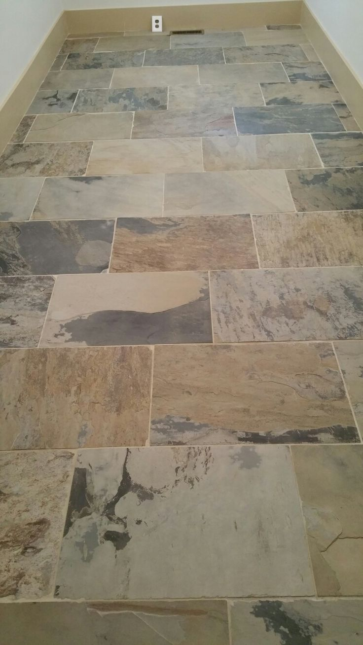 1036 best flooringwall stonetilewood images on pinterest 16x24 autumn slate tile floor mudroom straw grout sw macadamia trim dailygadgetfo Image collections