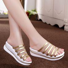 Zapatillas de plataforma femeninos 2015 zapatos mujer sandalias plataforma cuñas…