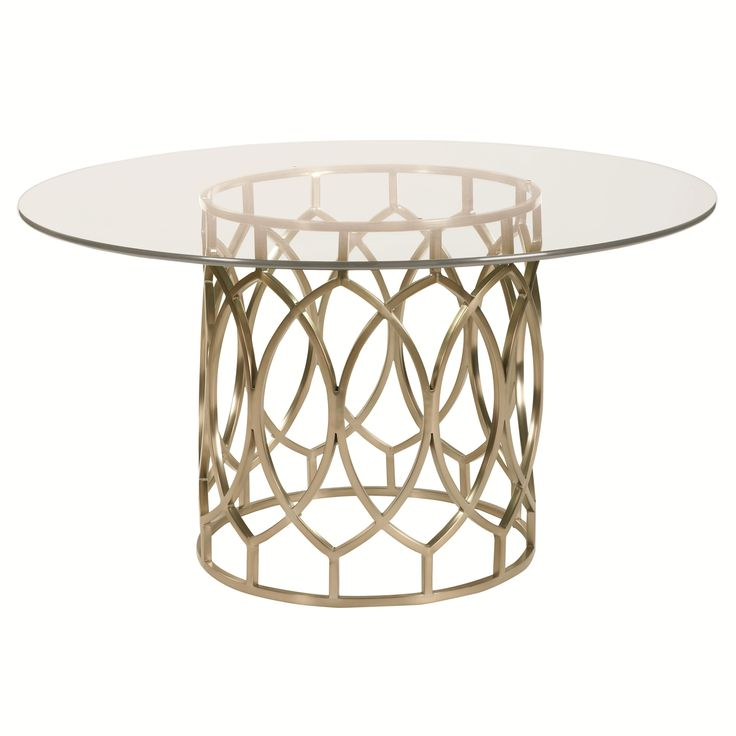 Bernhatfy Salon Dining Table With Glass Top And Geometric Metal Base Part Of The Collection