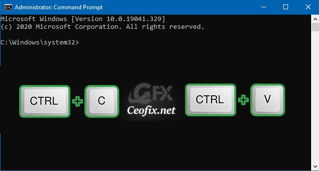 Enable Or Disable Ctrl C Ctrl V In Cmd On Windows 10 Windows Operating Systems Windows Versions Windows