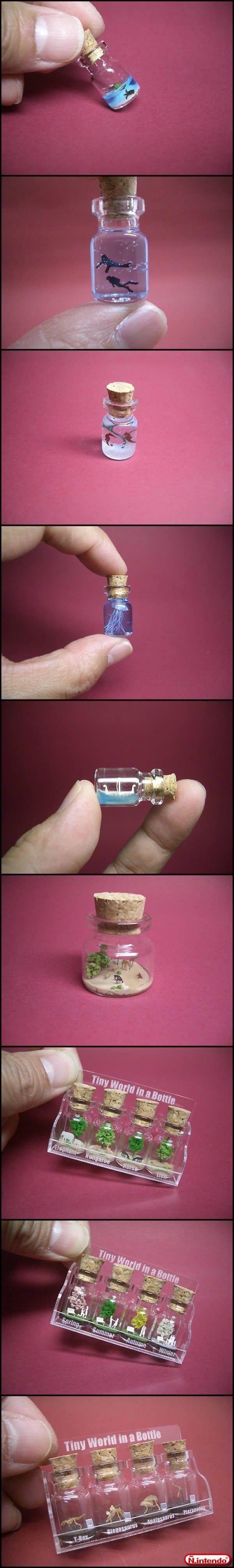 mini art in a bottle - Não Intendo                                                                                                                                                                                 More #pingentes #pendants #pendientes