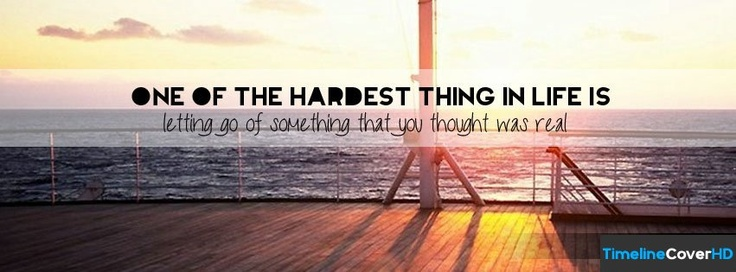 Something That You Thought Was Real Quote Timeline Cover 850x315 Facebook Covers - Timeline Cover HD