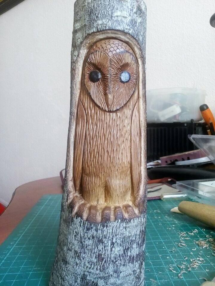 #woodcarvings, #woodspirit, #owl