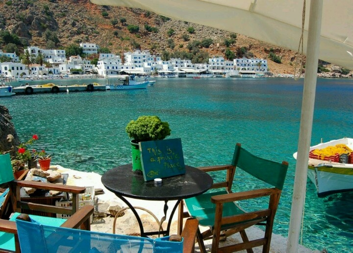 Loutro fishing village in south Crete