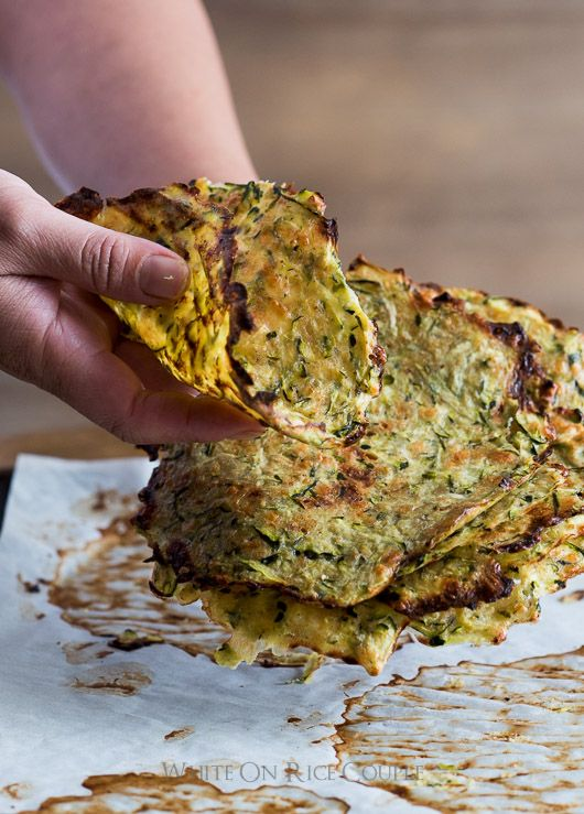 Healthy Zucchini Soft Taco Tortilla Shells from Grated Zucchini