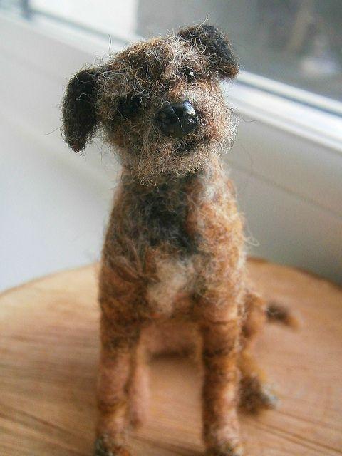 needle felted border terrier #felted #terrier #dogs #animal #border #terrier