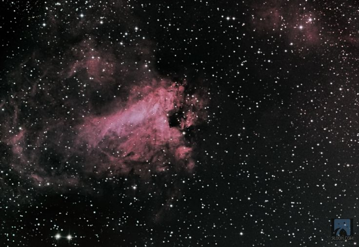 Omega Nebula,M17 in the Constellation of Sagittarius through the 20'' scope