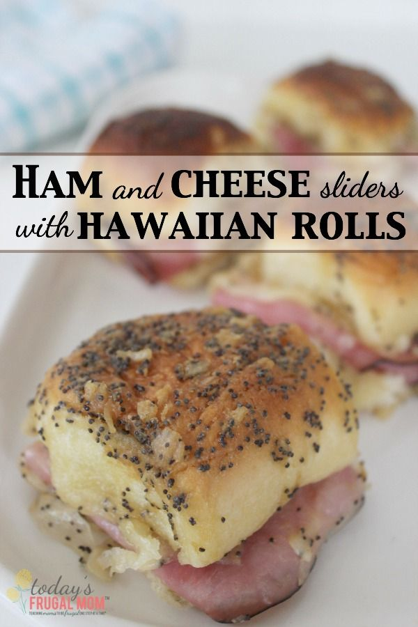 These delicious ham and cheese sliders on King's Hawaiian rolls are the perfect lunch for a busy mom to feed her hungry kids! :: TodaysFrugalMom.com