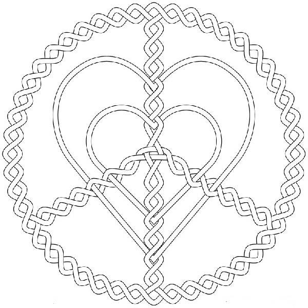 hard abstract pages peace coloring pages for teenagers 600x600px - Heart Coloring Pages For Teenagers