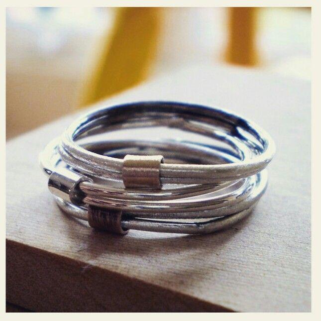 My Trois set of fidget rings !