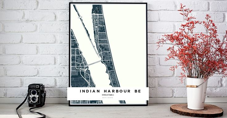 Indian Harbour Beach | Custom Map Maker – Make Your Own Map Poster Online - YourOwnMaps