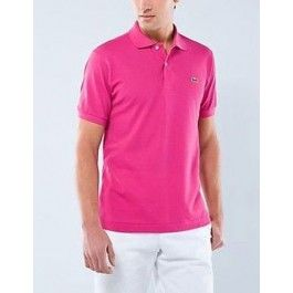 Men Polo Shirt, Short Sleeve, HotPink Color