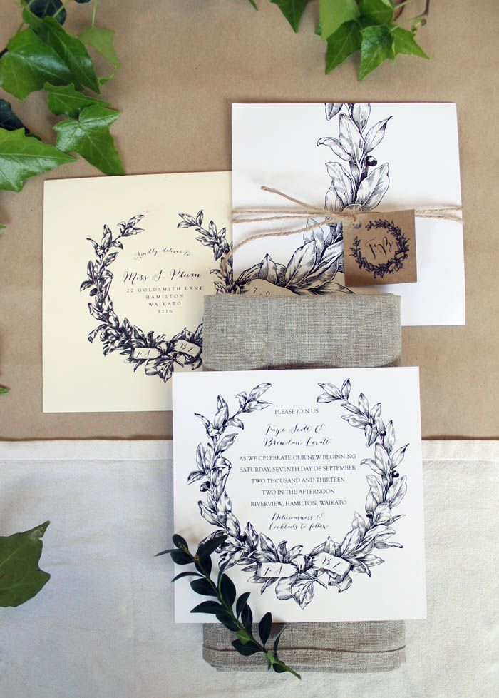 Just-My-Type-NZ-Wedding-Stationery-black-and-white-wreath-5