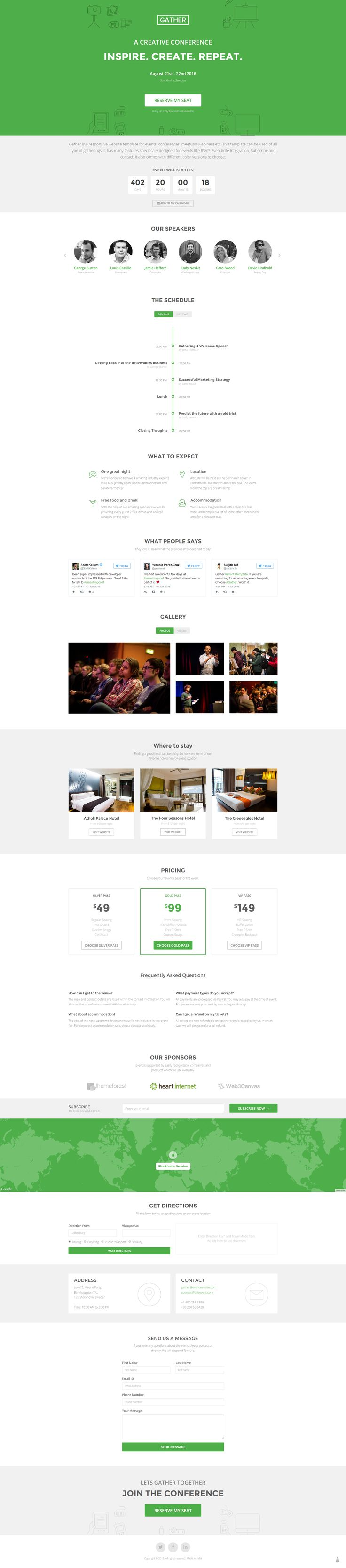 Event Landing Page Template - Gather - Marketing | ThemeForest