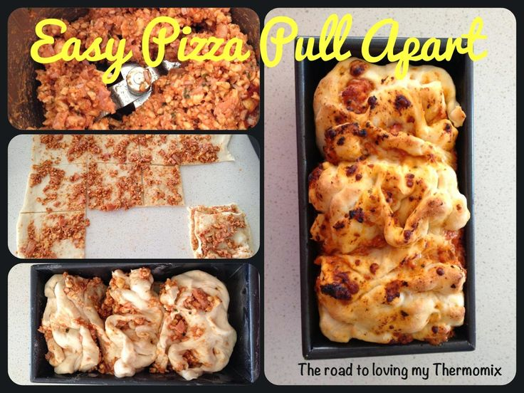 The road to loving my Thermomix: Easy Pizza Pull Apart
