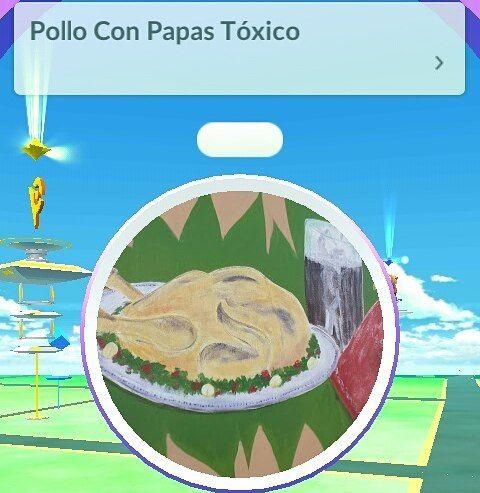 Pollo con papas tóxico  #pokemongo #pokemon #pokeparada #pokestop