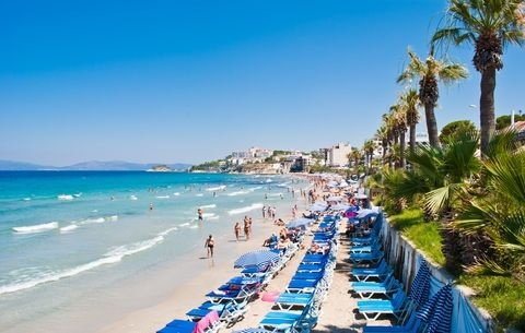Ladies beach kusadasi turkey