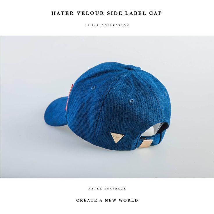 HATer Velour Side Label Cap - Blue