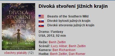 Divoká stvoření jižních krajin / Beasts of the Southern Wild (2012) | ČSFD.cz