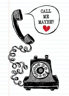 Call Me Maybe Valentine's Day Card