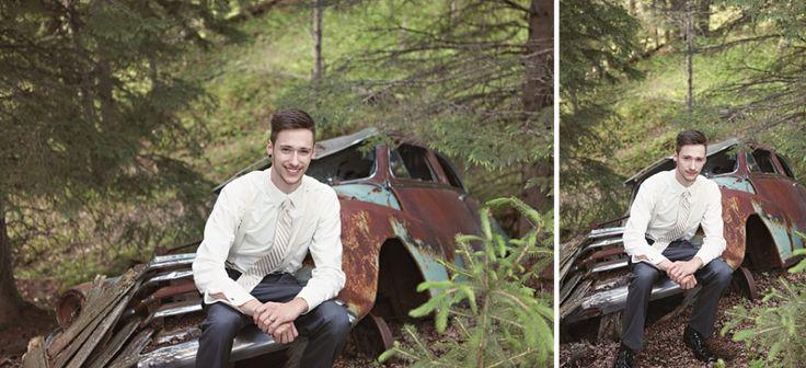 Old Car + Groom + Old Pile of junk Chicks That Click » Edmonton Wedding Photographer