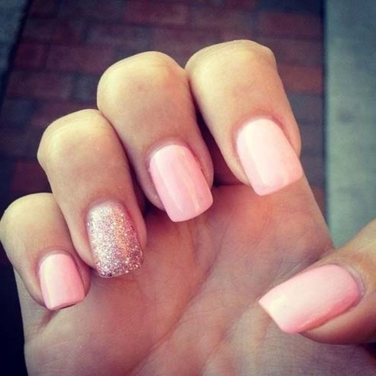 10 best nails images on pinterest nail design cute nails and i love the classic pairing of the pink and the gold ish tone glitter it is a very classy but feminine look prinsesfo Images