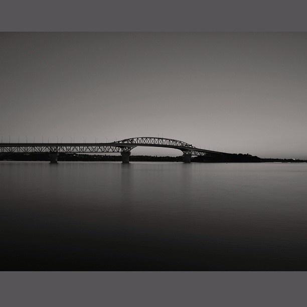Auckland harbour bridge NZ.