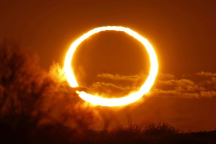 Annular eclipse of 10 May 2013 as seen from Newman, Western Australia, Australia