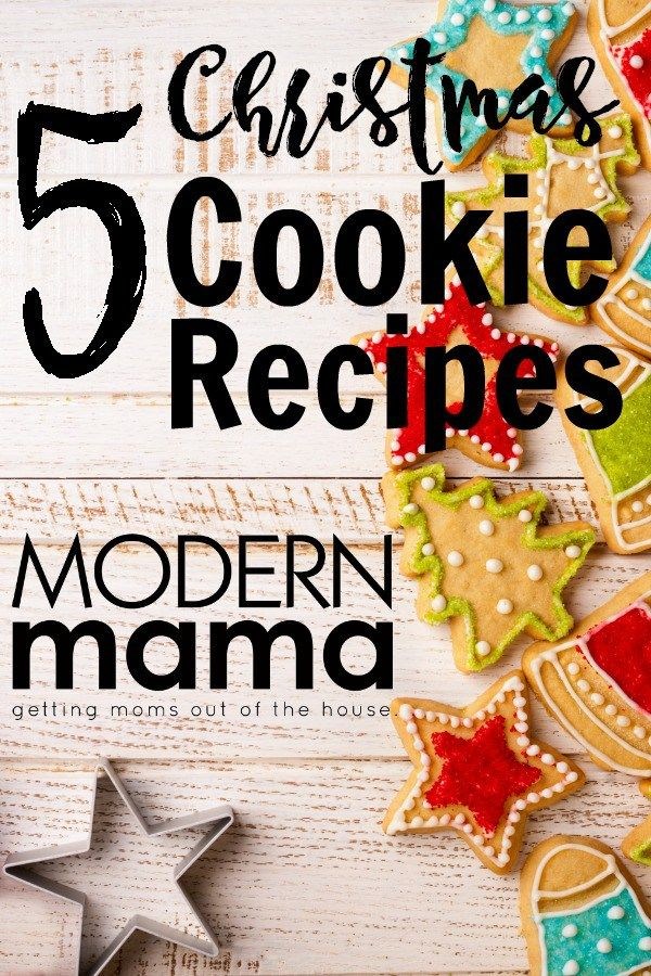 Top five Christmas cookie recipes. Creative and yummy Christmas cookie recipes that will wow! ModernMama.com #christmasrecipe #cookierecipe #christmas #holidayrecipe #christmasrecipes