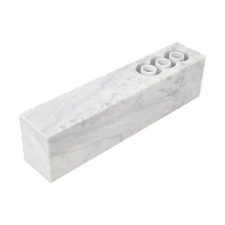 "Marble ""Brick"" Candleholder by Scandola Marmi, via Barneys."