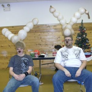 We had our family Christmas party and had a couple of strange reindeer show up just after a game. For this game, you need:
