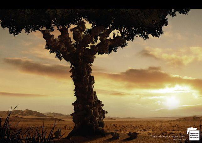'The world needs more tree' by DDB&Co.