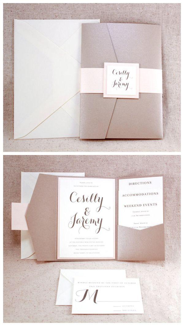 Wedding Invitation Set Sophisticated elegance ivory