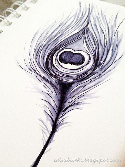 Fine felt tip pen + water brush = painting practice for Mr M (tips)