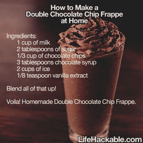 Make Your Own Starbucks Mocha Frappe!!!