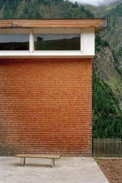 Gion A Caminada - Multi-purpose hall, Vrin 2003.