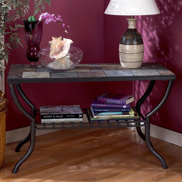 Antigo Slate Top Sofa Table By Signature Design Ashley