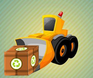 Drive in a bulldozer and try to place the items in the marked area. Make sure you will do it fast for a better award.