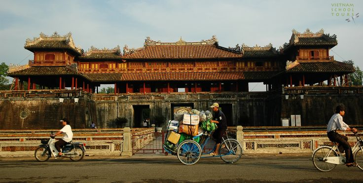 In the morning in Noon Gate in Hue